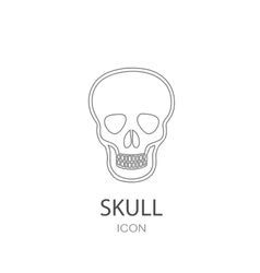Skull icon Flat style object Art picture drawing vector image