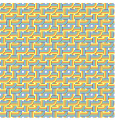 abstract retro seamless pattern with color tubes vector image