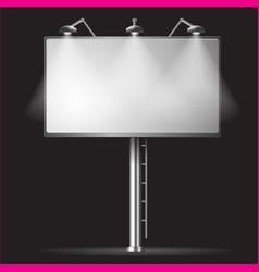 Billboard night background vector image