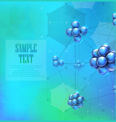 molecules background concept vector image vector image