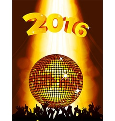 New Years party background with disco ball and vector image vector image