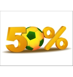 fifty percent discount icon vector image