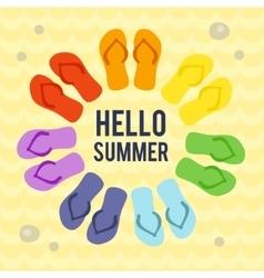 Hello Summer card vector image vector image