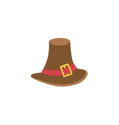 pilgrim hat flat isolated vector image