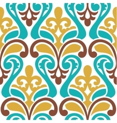 Seamless damask pattern Classic background vector image