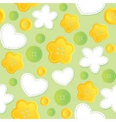 seamless pattern with sewing buttons vector image