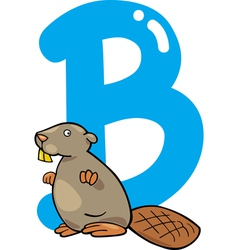 B for beaver vector image vector image