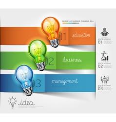 Business lightbulb Idea vector image vector image