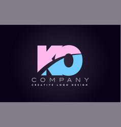 ko alphabet letter join joined letter logo design vector image vector image