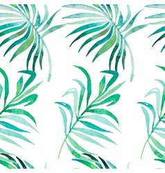 Palm leaves pattern Seamless tropical pattern vector image