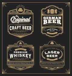 Vintage frame design for labels banner vector image