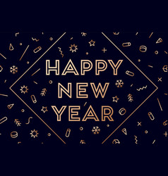 2019 happy new year greeting card with vector