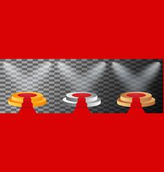 3d stage podium illuminated spotlight vector image