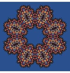 Abstract circle floral ornamental border on vector image