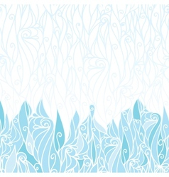 Abstract frost swirls texture horizontal seamless vector image