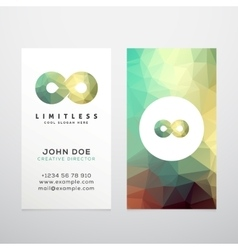 Abstract limitless infinity symbol icon vector