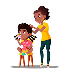 afro american woman braids dreadlocks of afro vector image