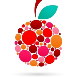 Apple icon with dotted pattern vector image
