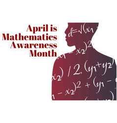 April is mathematics and statistics awareness vector