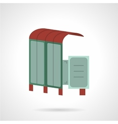 Bus station flat icon vector image