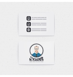 Business card with a logo designer hipster vector image