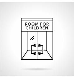 Cafe playroom black line icon vector