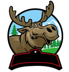 Cartoon moose mascot vector