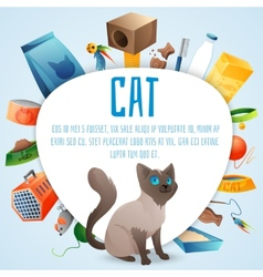 Cat stuff set vector image