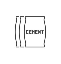 Cement bags concept outline icon vector
