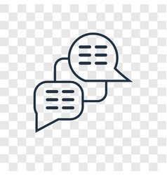 Chat concept linear icon isolated on transparent vector