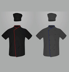 Chef uniform shirt and hat vector