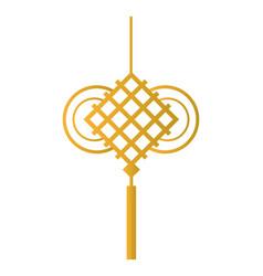 Chinese golden pendant vector