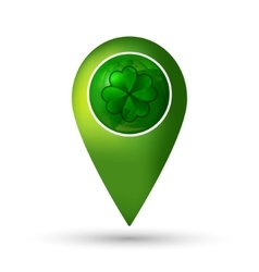 Clover location icon vector