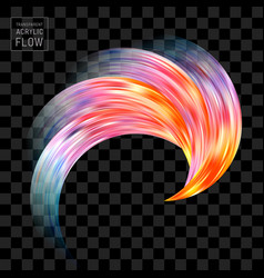 colorful flow brush stroke on black background vector image