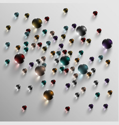 colorful glass balls vector image