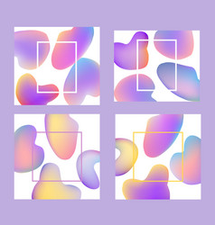colorful gradient banners set - trendy abstract vector image