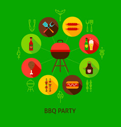 concept bbq party vector image