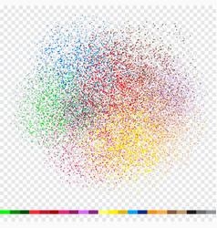 Confetti tinsel design white transpaent vector