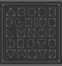 contour font minimalistic english alphabet vector image
