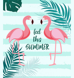 cute summer abstract background with pink flaming vector image