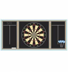 Dartboard with darts vector