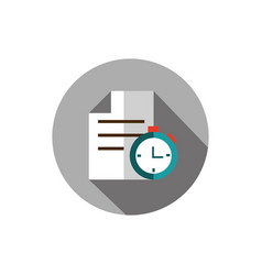 document chronometer business strategy icon block vector image