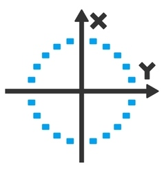 Dotted Circle Plot Icon vector