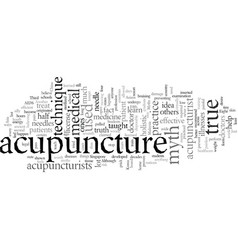 Eight myths about acupuncture vector