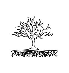 Figure tree without leaves icon vector