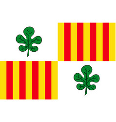 Flag of figueres of spain vector