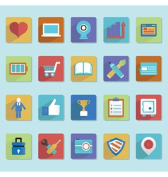 Flat icons for web design - part 2 vector image