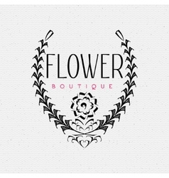 Flower Boutique insignia and labels for any use vector image