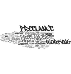 freelance word cloud concept vector image