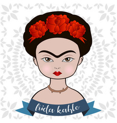 Frida kahlo portrait vector